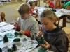 Weihnachtswerkstatt Zapfenbäume, 4b, Okt.2014