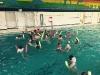 Wasserball auf Nudeln, Januar 2016