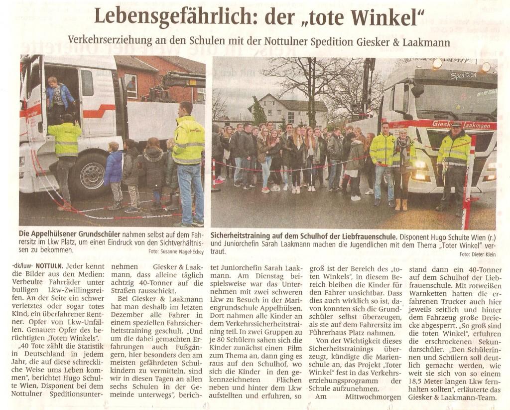 2016_01_28 Artikel WN Toter Winkel