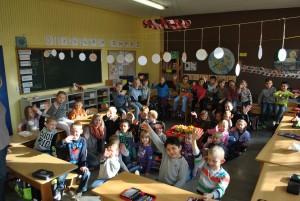Lilalaune-Kinder im 1. Schuljahr, 28.10.2015