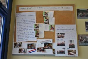 Frankreichaustausch 2013, Fotowand