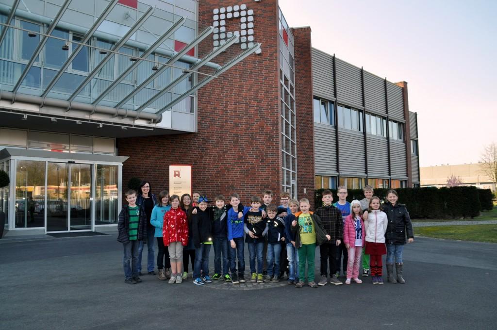 Besuch im Druckhaus der WN, Klasse 4a, 13.03.2014
