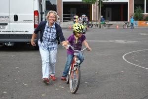 Radfahrtraining, 03.09.2012, Klasse 1a,b