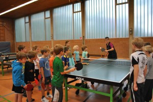 Tischtennis-Training, November 2015