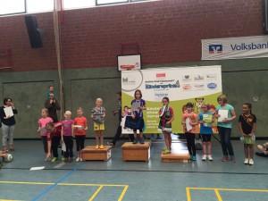 Siegerehrung Mädchen Kindersprint Billerbeck, 8.11.2015