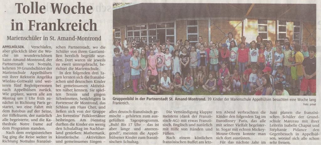 Frankreich Artikel WN, Juni 2013