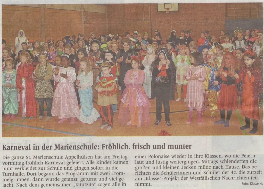 Karneval, 08.02.2013, Zeitung