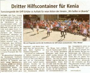 Tornisteraktion, Zeitung WA_3.7.12