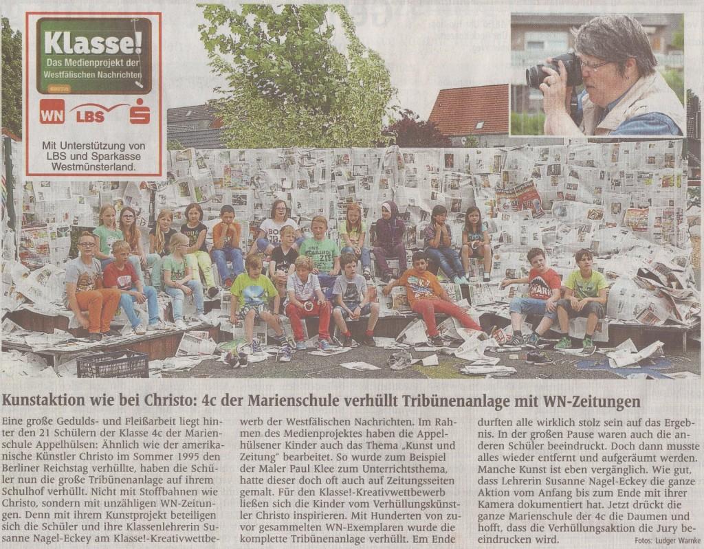 Wie-Christo Zeitungsartikel WN vom 14.06.2013