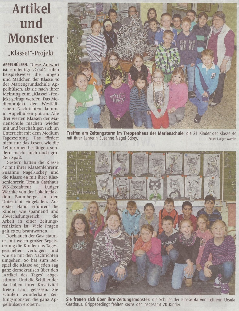 Zeitungsprojekt 4a und c, 28.02.2013