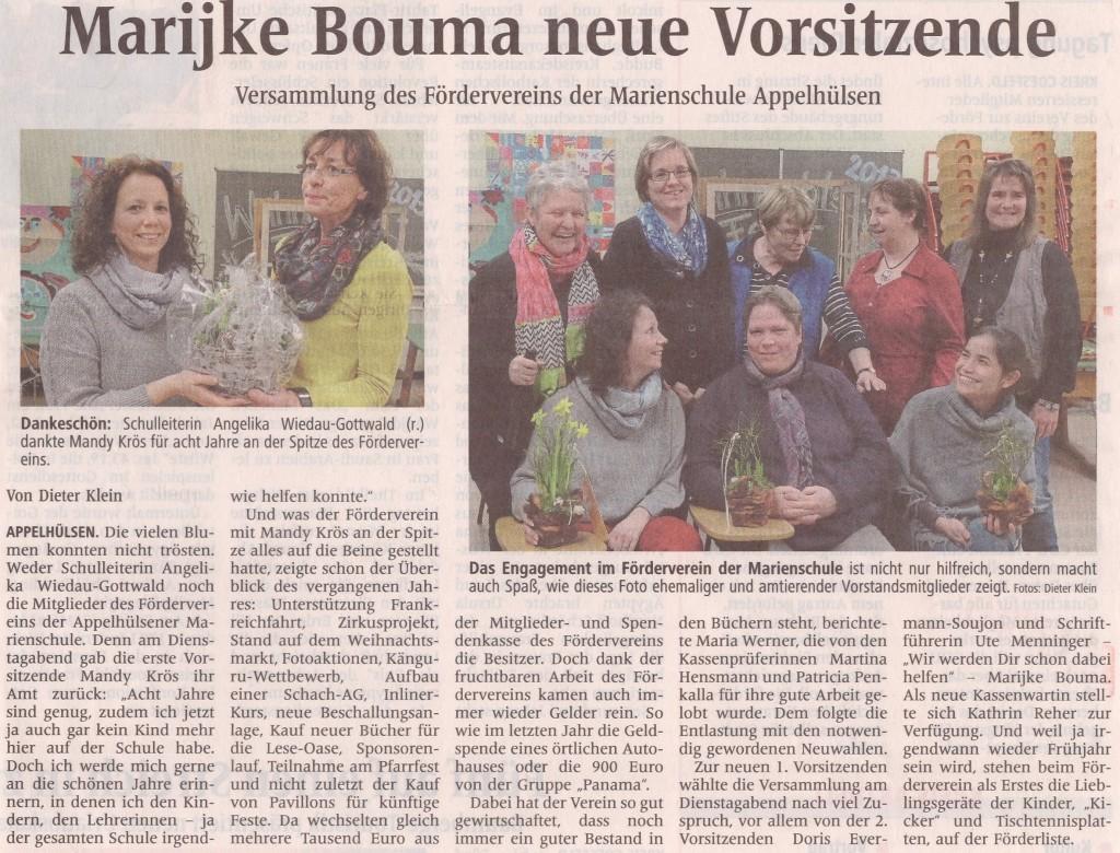 neue Vorsitzende Förderverein, 20.1.2014