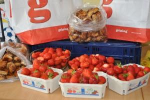 Frankreichaustausch Erdbeeren