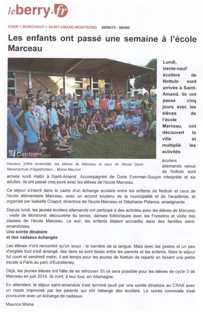 Text franz. Zeitung