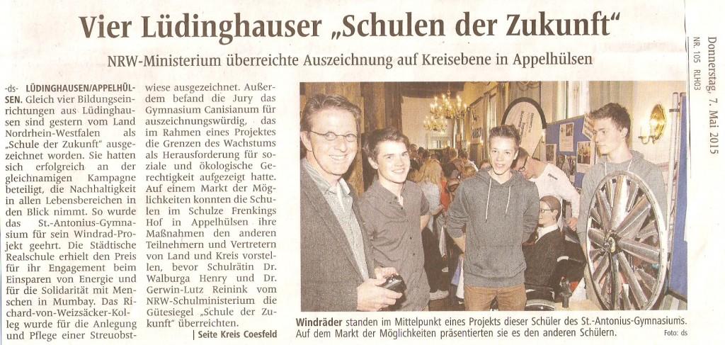 2015_05_07 nua Zertifeier Artikel WN Lüdinghausen