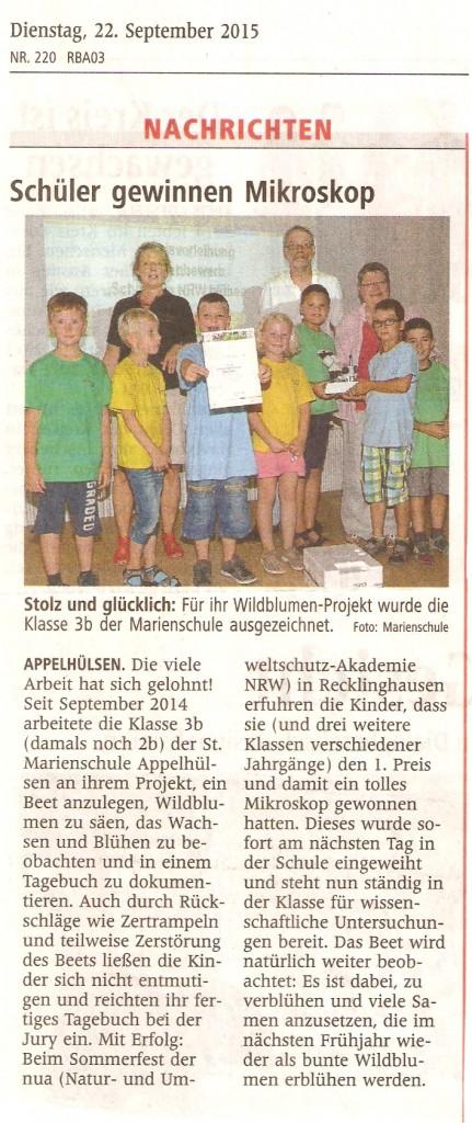 2015_09_22 WN Preisverleihung 3b Schulen in NRW blühen auf