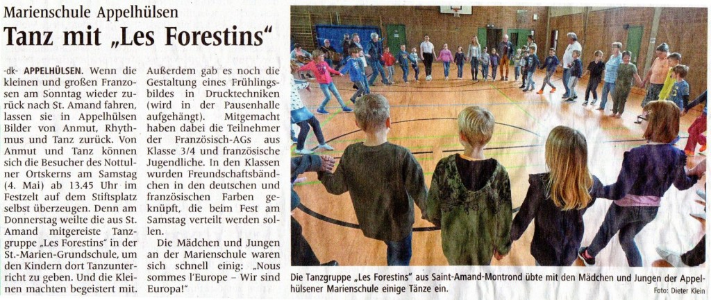 2019_05_03 WN Bild u Text re Städtepartnerschaft Tanz üben