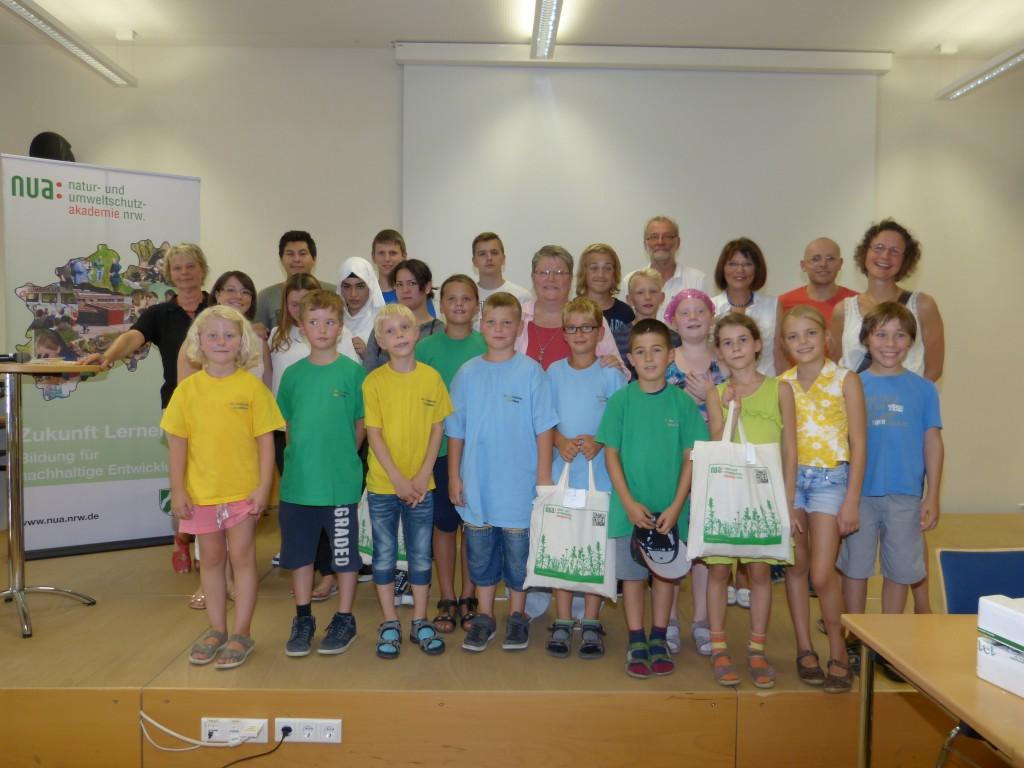 """Preisverleihung nua """"Schulen in NRW blühen auf"""", 3b, 30.08.2015"""