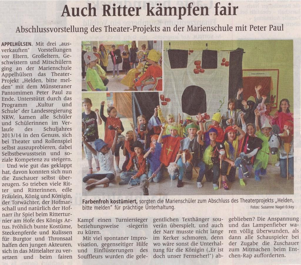 Presseartikel Ritter, 03.07.2014