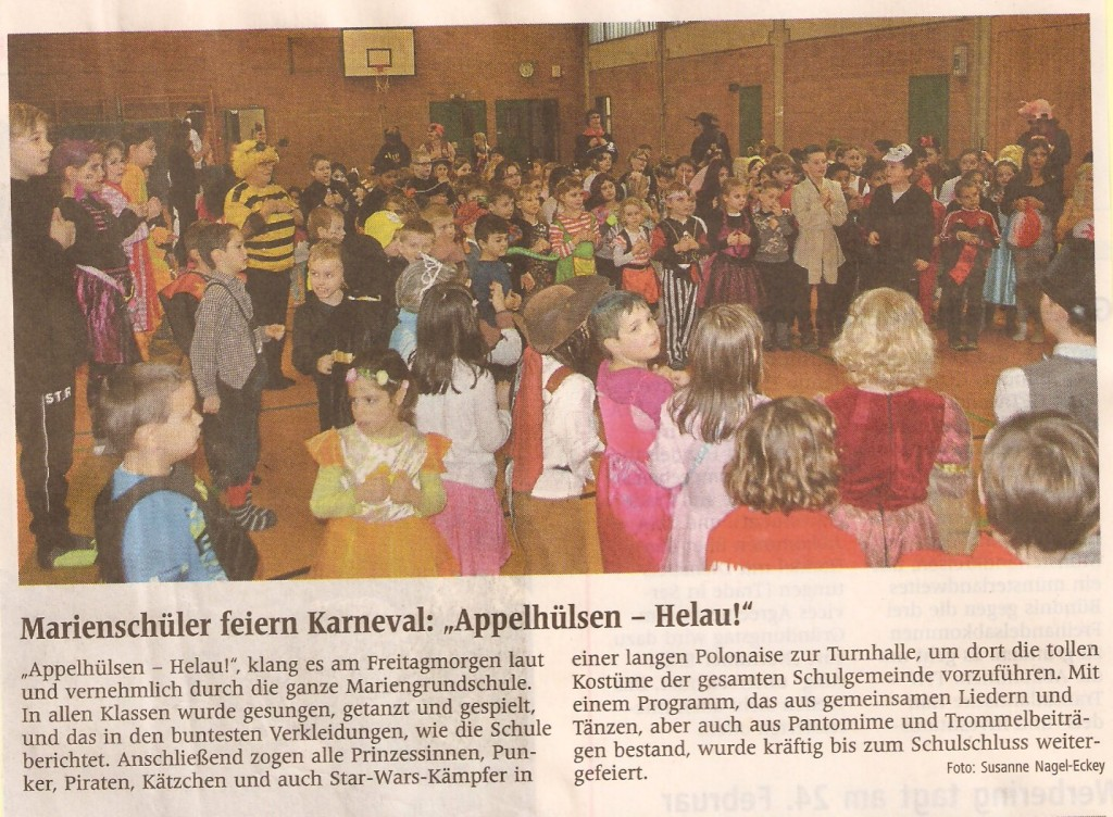 2016_02_09 WN Bericht Schulkarneval